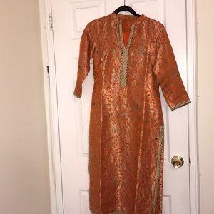Indian brocade silk suit
